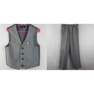 Other - Boys 2 Piece Gray Suit Vest & Pants XS 5